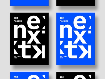IBM Maximo Next solid colors all type next duo ibm plex poster
