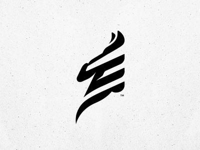 Zebra Head illustration. branding zebra mark logo