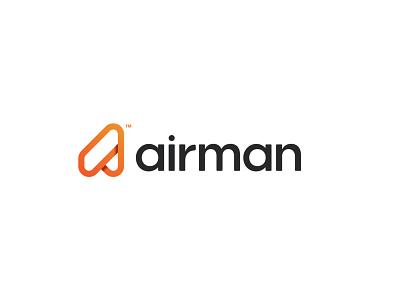 Airman logo op.1 brand entertainment activity activities tour icon vibrant modern tall minimal symbol aircraft branding mark sky travel a letter logo air