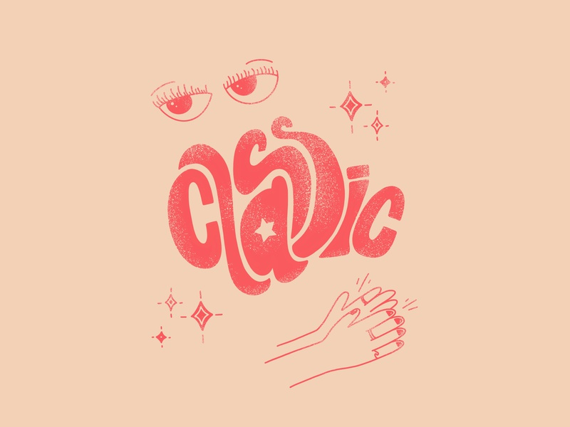 Classic lingo language retro type typography reaction distressed retro retro vibe attitude ipadart pink hand lettered type handlettering expressive type illustration classic