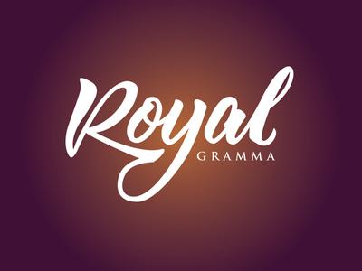 Royal Gramma royal gramma fish purple yellow brush lettering