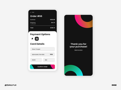 Credit card form black form card credit challenge dailyui
