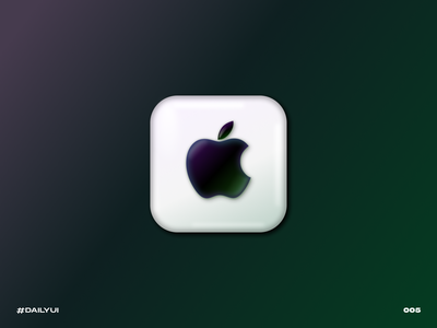 Apple app icon sur big icon app apple challenge dailyui