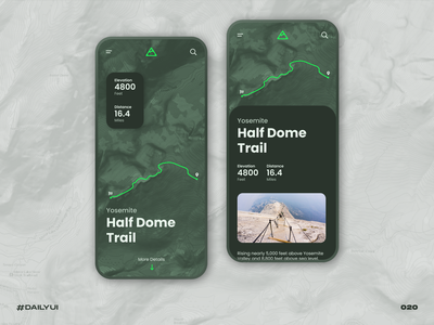 Hiking location tracker national park trail mountain hiking location tracker locations mobile dailyui challenge