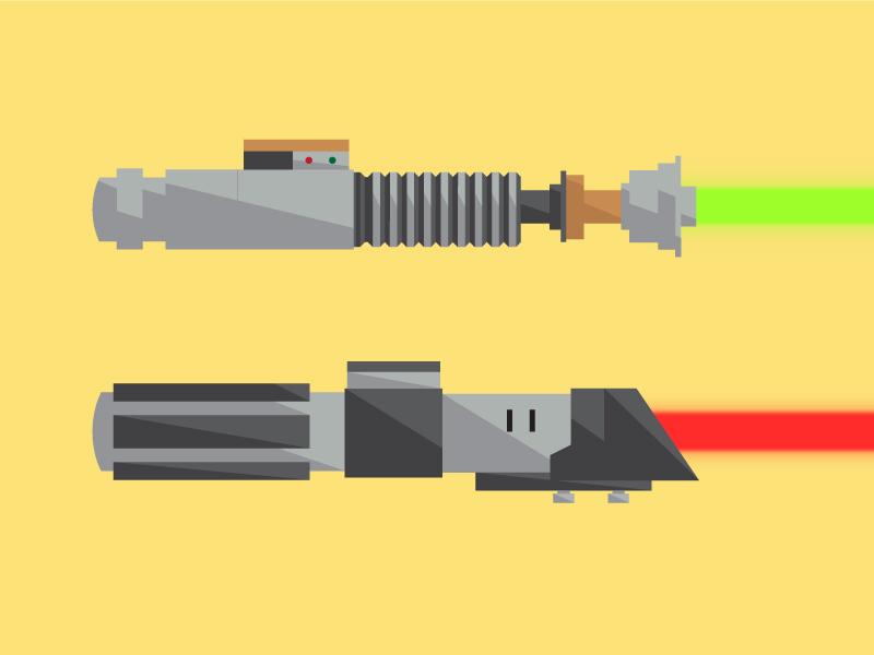 Lightsabers wars star anakin skywalker luke jedi lightsaber