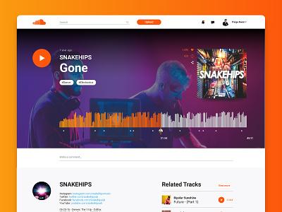 Soundcloud Song Layout UI Challenge design redesign music challenge weekly layout song soundcloud ui