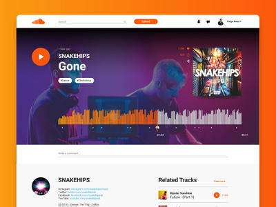 Soundcloud Song Layout UI Challenge design redesign music challenge weekly layout song soundcloud ui
