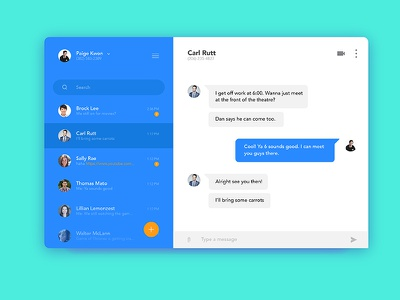 Chat challenge blue message text module ui chat