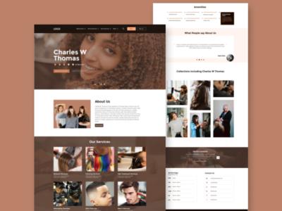 Hair saloon website ux design