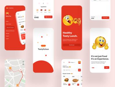 Tastylicious- food ordering app icon app designer branding designers typography creativity design ux ui