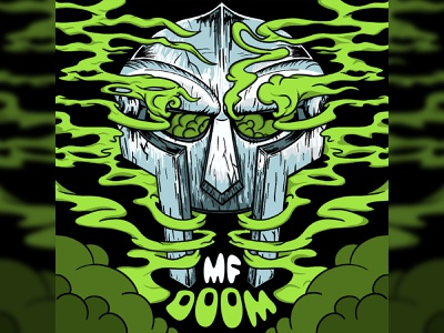 MF DOOM FOREVER crumby creative color music rap underground rap hiphop branding crumby hand drawn ipad pro procreate illustration supervillain mf doom doom