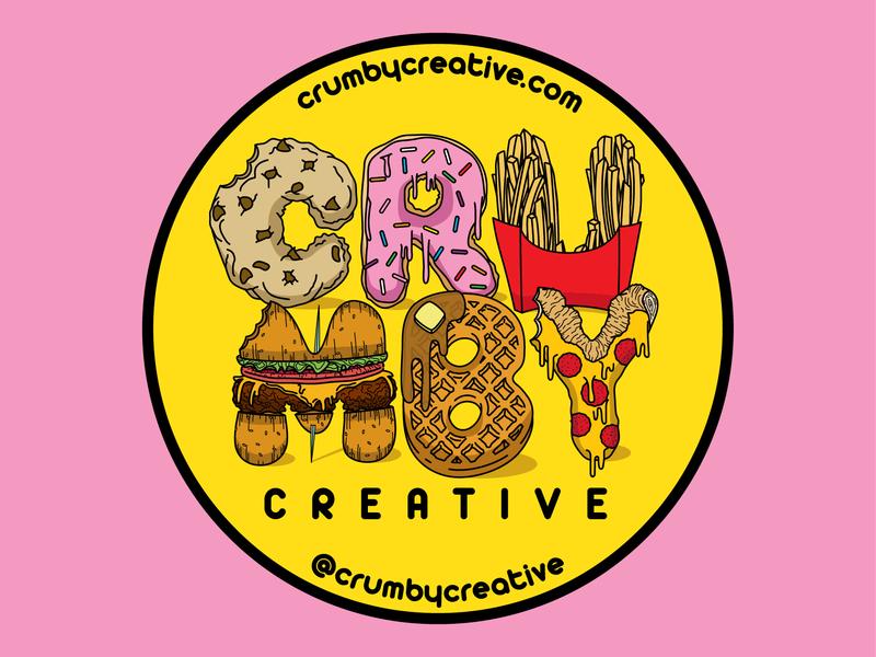 Crumby Coaster doughnuts cookies vector art brand and identity branding hand drawn adobe cc illustrator colors crumbs foods illustration graphic design nebraska lincoln crumby creative crumby sticker mule coaster design coaster