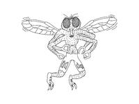 Fly guy for dribbble outline 03