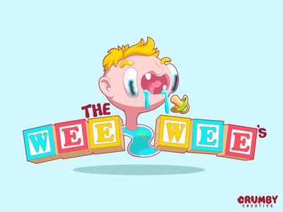 The Wee Wee's character skits comedy youtube branding logo wee vector art vector creative illustration blocks childish child splat toddler baby crumby illustrator cartoon