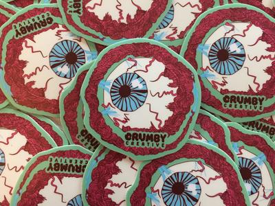 Crumby Eyeball Stickers.