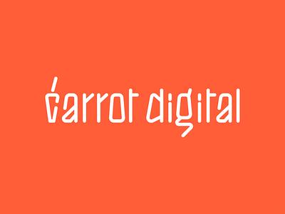 Carrot digital logo orange digital carrot letters type graphic desgin lettering desiginspiration minimal branding typography vector bulgaria logo design identity