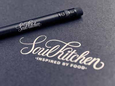 Soul Kitchen logo soulkitchen kitchen vegan restaurant logo lettering design identity branding