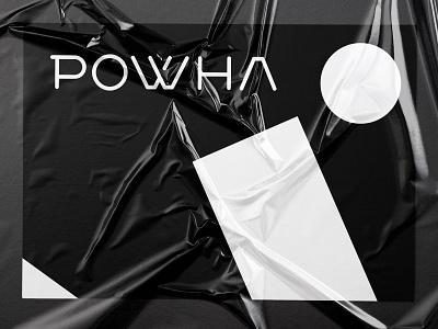 POWHA urban fashionbrand fashion vector minimal bulgaria typography identity logo branding design