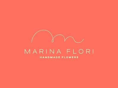 Marina Flori - Handmade flowers symbol graphic desgin desiginspiration line vector logo bulgaria design typography minimal identity branding