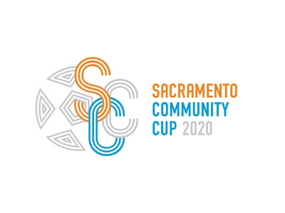 Sacramento Community Cup Logo (Unused Option) logotype athletes sports monogram illustration sacramento california cali nonprofit futbol football soccer branding logo