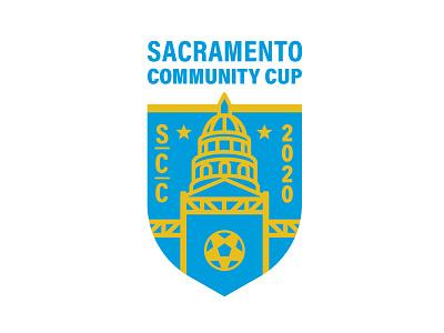 Sacramento Community Cup Logo sacramento sports logos cali lockup identity crest branding and identity branding logo soccer logo refugees california futbol football soccer