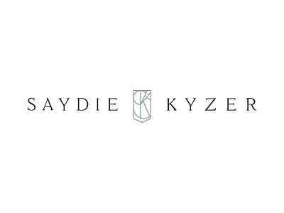 Saydie Kyzer Logo graphic design jewelry design typography lockup mark monogram crest graphicdesign jewelry identity logo branding