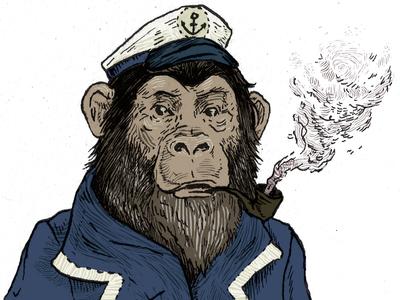 Detail: Chimpanzee Admiral