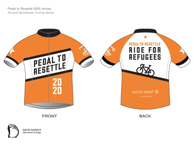 2020 Charity Ride Cycling Jersey refugees graphicdesign design cyclists biking sacramento california sportswear apparel jersey cycling tour road cycling bicycles bikes cycling