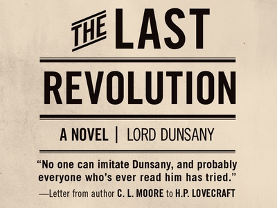 The Last Revolution by Lord Dunsany: Titling Detail