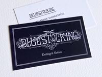 Bluestocking Logo, Business Card