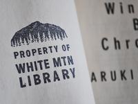 White Mountain Library Stamp