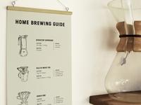 Noon Peak Paper Co. Coffee Brewing Guide