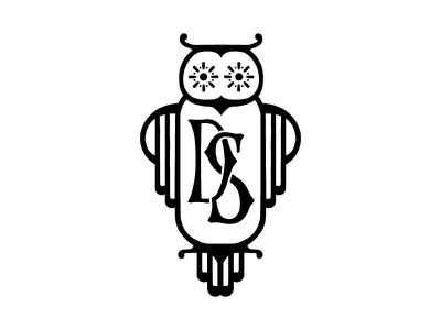 DS Monogram Owl Logo monogram owls owl icon branding lettering typography illustration graphic logo