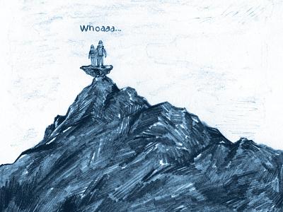 Snøhetta — comic indie comics comics adventure outdoors mountain graphic novel narrative artwork art illustration comic drawing