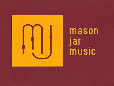Mason Jar Music (Unused Concept) typography monogram topography identity faders music studio music recording studio recording branding logo
