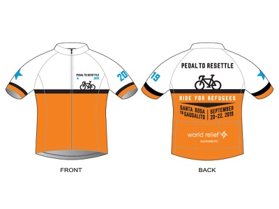 Pedal to Resettle Cycling Jersey — Selected fundraising benefit cycling kit activewear clothing apparel uniform jersey nonprofit human rights refugees bike ride bicycles bike cycling