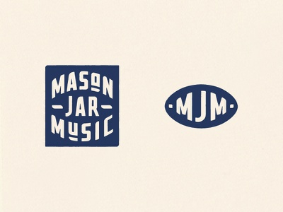 Mason Jar Music Final Logo graphicdesign design custom lettering type typography knockout lockup monogram logo icon recording studio music