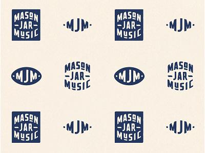 Mason Jar Music Final Logo monogram custom icon type ornaments lettering branding logo identity typography drawing