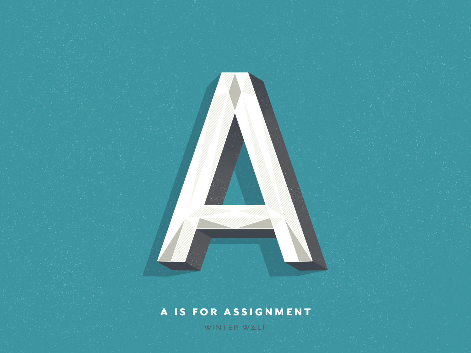 A is for Assignment hand lettered logo hand lettering hand lettered hand art south african graphic design a lettering a a letter illustrator drawing bright lettering winter wolf creative typography procreate illustration doodle calligraphy 3d lettering lettering