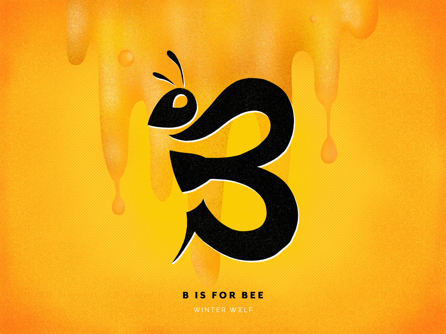 B is for Bee south african honey b lettering b b letter bee logo bee hand lettering graphic design drawing bright lettering typography winter wolf creative procreate illustrator illustration doodle calligraphy 3d lettering lettering