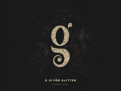 G is for Glitter type challenge type daily type art 36 days of type 36 days of type lettering hand lettering drawing procreate graphic design glitter spray g type g logo glitter lettering glitter typography winter wolf creative illustrator illustration doodle lettering