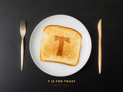 T is for Toast type stencil type stencil army lettering adobe photoshop photo manipulation burnt image toast drawing 36 days of type lettering 36 days of type procreate hand lettering graphic design winter wolf creative typography illustrator illustration doodle lettering