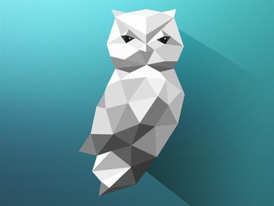 Abstract Art Owl
