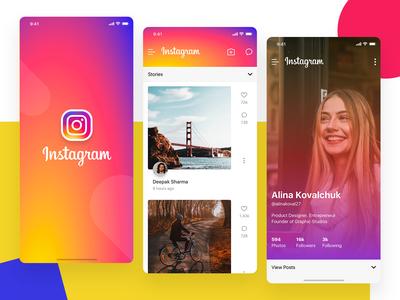 Instagram App iOS UI
