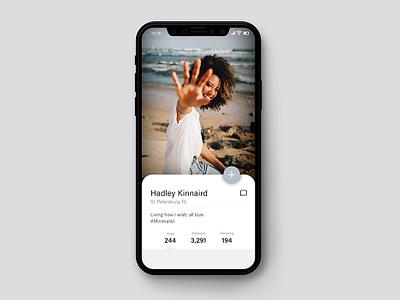 Daily UI #006: Social Media App mockup social media app typography daily challange dailyui006 daily ui 006 app design visual design ui dailyui challenge daily ui