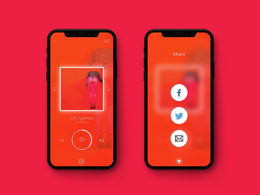 Daily UI 010 social share social buttons share buttons share button icon typography app concept album illustration concept design daily challange app design visual design ui dailyui challenge daily ui challenge dailyui010 dailyui daily ui