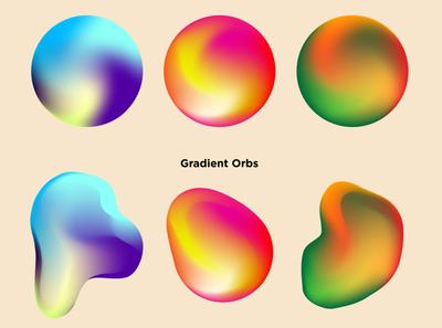 Gradient orbs 04 colors visual poster design gradient design gradient poster abstract graphic design design