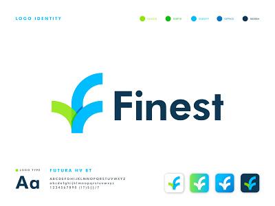 Finest Logo Design logo design letter mark logo logo investment financial financial app finance software analysis f letter logo f logo corporate company app business minimal modern logo symbol brand identity branding