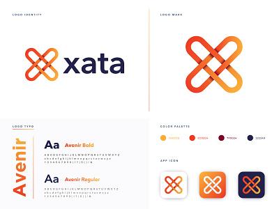 Xata Logo Design logo design branding brand design logo icon logo design 2020 design letter mark technology software gradient logo analysis letter logo x logo app brand identity branding logo designer logo mark modern logo