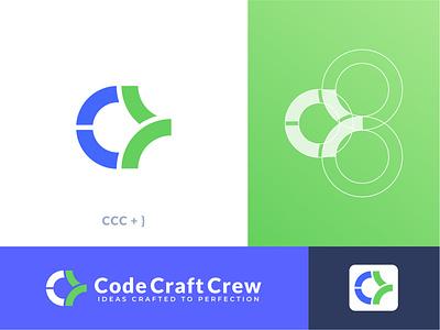 Code craft crew logo design. lettering icon illustration brand design modern logo brand identity logo design branding app digital web craft logo c letter logo coding logo code logodesign
